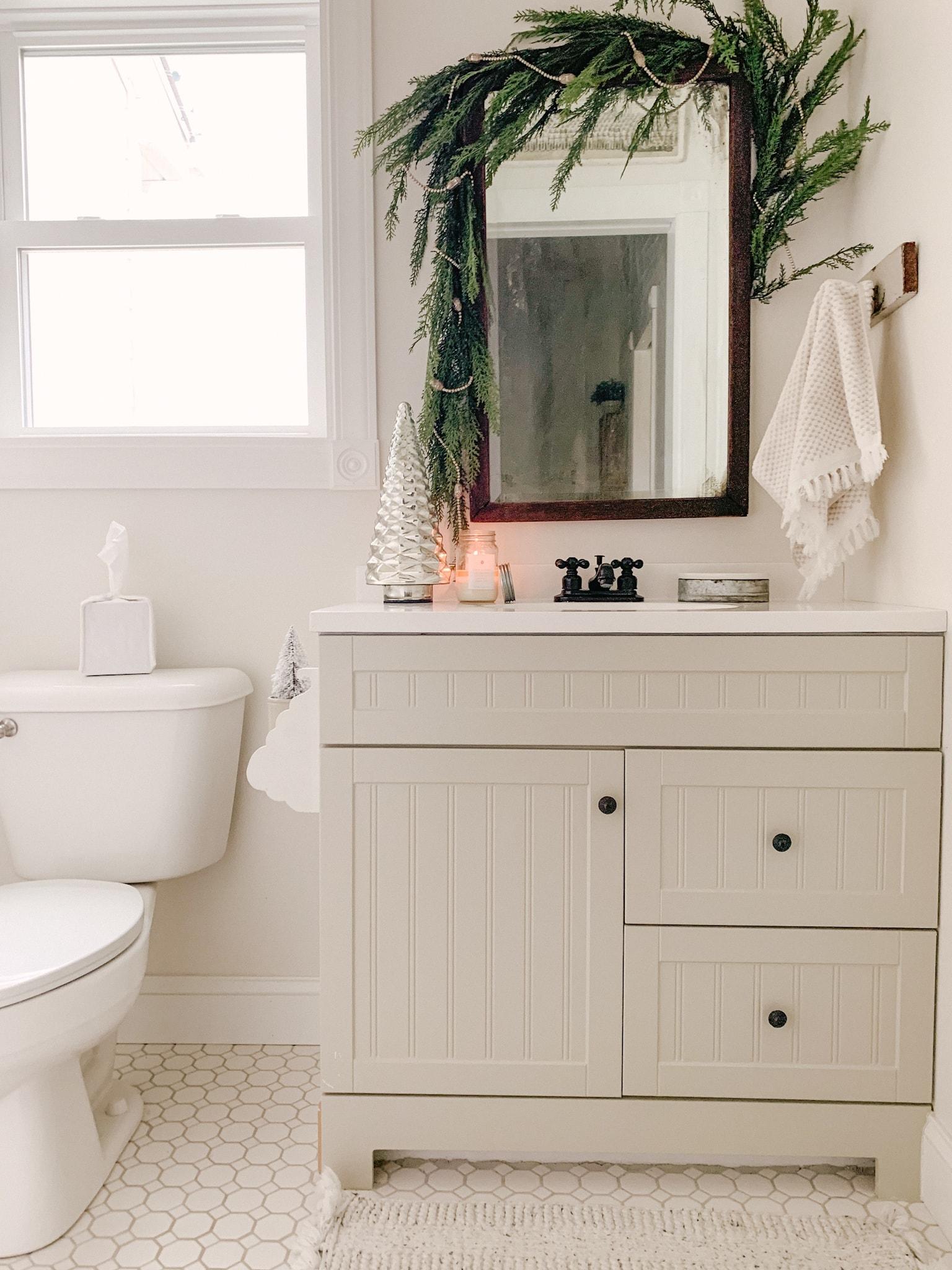 Small Bathroom Winter Decor Sarah Jane Christy